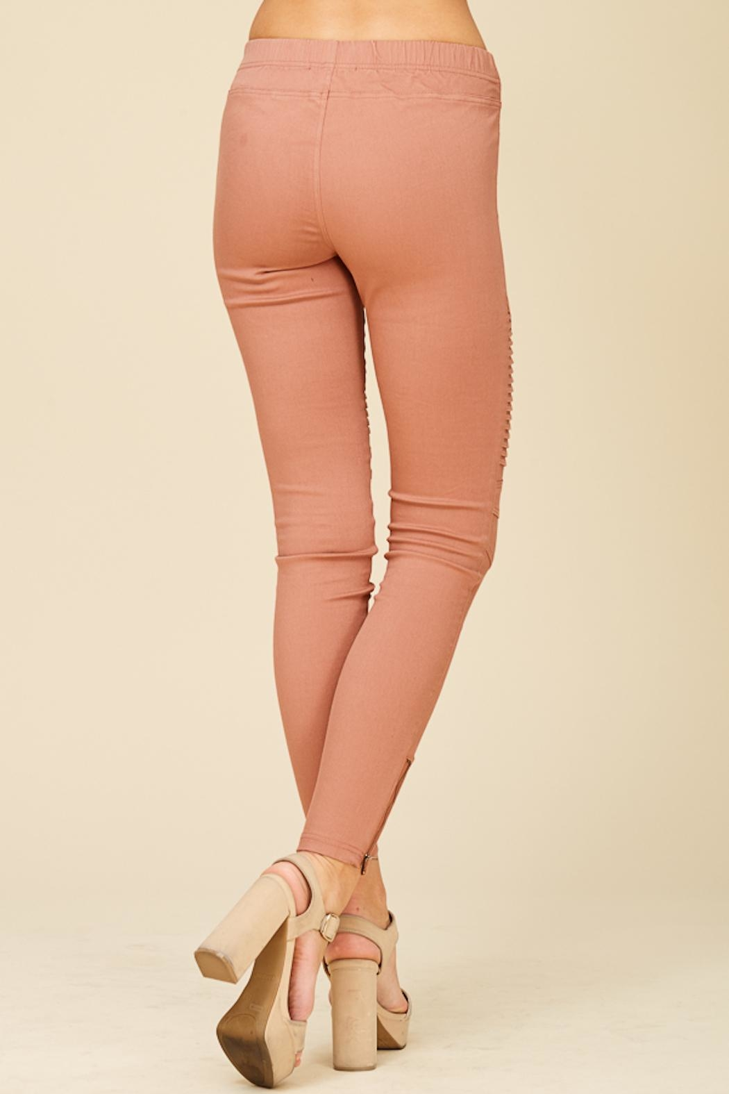 Apricot Lane Pleated Jegging - Side Cropped Image