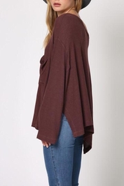Apricot Lane Plum Crumbs Top - Front full body