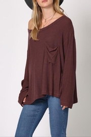 Apricot Lane Plum Crumbs Top - Front cropped