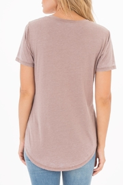 Apricot Lane Pocket Tee-Taupe/grey - Side cropped