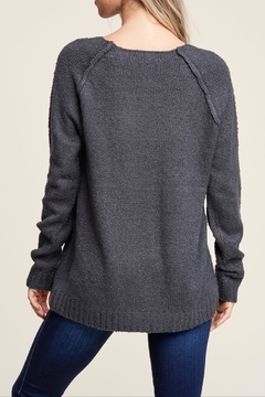 Apricot Lane Raglan Sweater-Charcoal - Alternate List Image