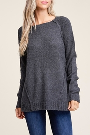 Apricot Lane Raglan Sweater-Charcoal - Product Mini Image