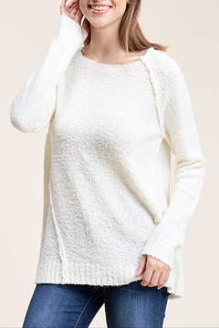 Apricot Lane Raglan Sweater-Ivory - Product List Image