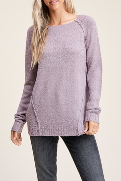 Apricot Lane Raglan Sweater-Lavender - Product List Image