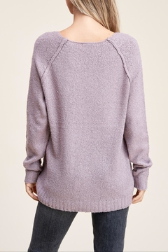 Apricot Lane Raglan Sweater-Lavender - Alternate List Image