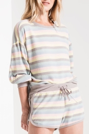 Apricot Lane Rainbow Stripe Pullover - Product Mini Image
