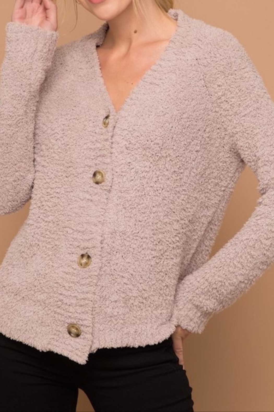 Apricot Lane Rose Fizz Cardigan - Front Cropped Image
