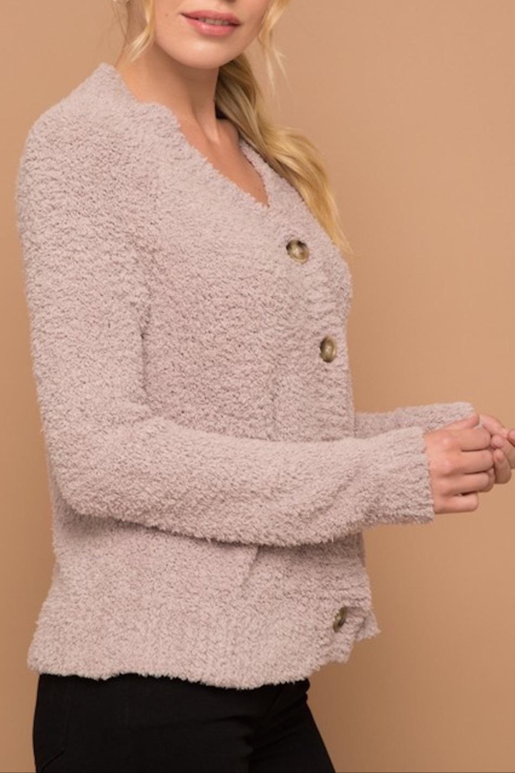 Apricot Lane Rose Fizz Cardigan - Front Full Image
