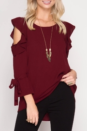 Apricot Lane Ruffle Me Top - Front cropped