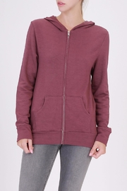 Apricot Lane Sangria Zip Up Hoodie - Product Mini Image