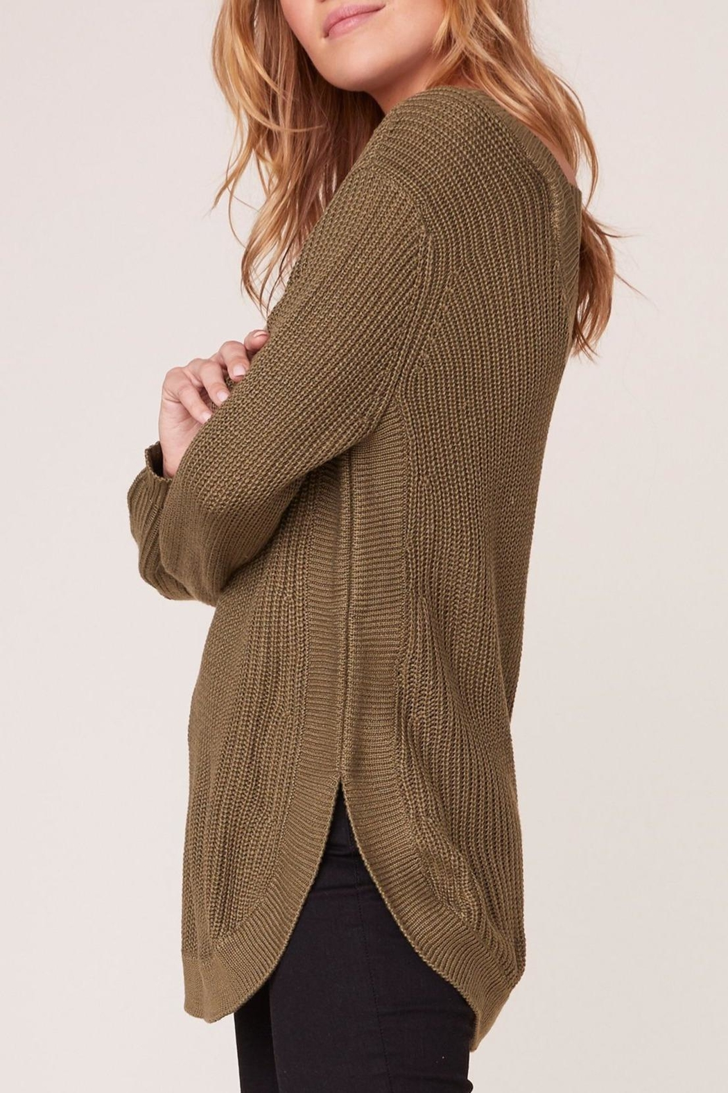 Apricot Lane Scoop Back Sweater - Front Full Image