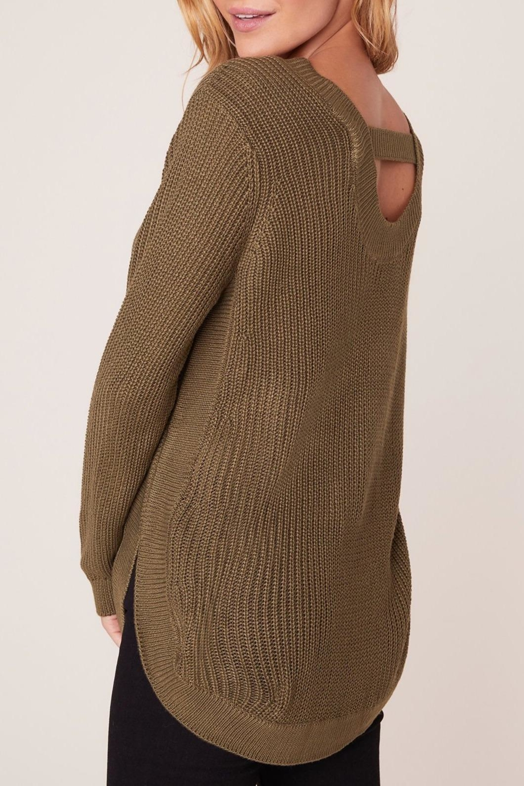 Apricot Lane Scoop Back Sweater - Side Cropped Image