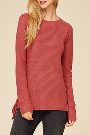 Apricot Lane Side Lace-Up Sweater - Product Mini Image