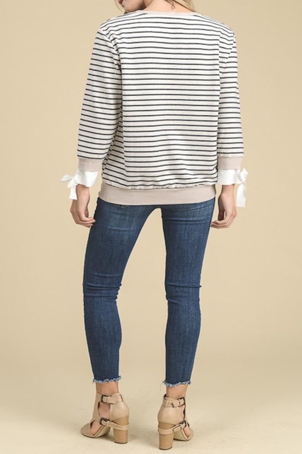 Apricot Lane Side Tie Sweater - Side Cropped Image