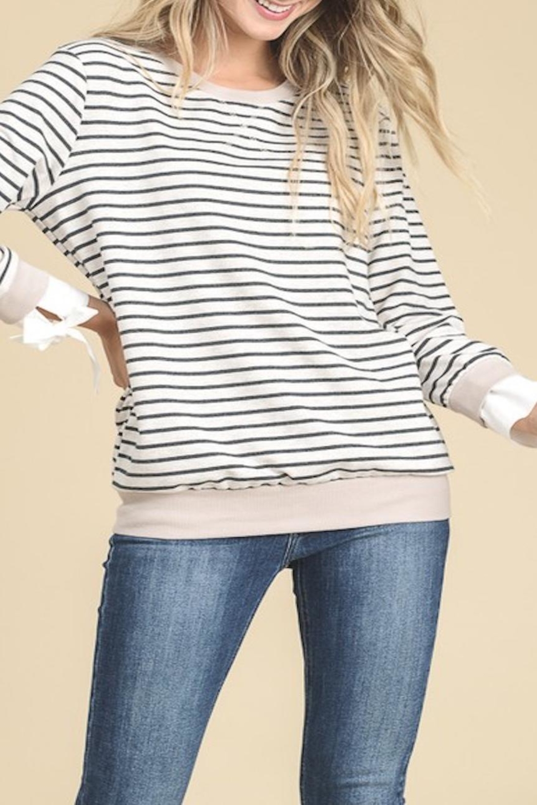 Apricot Lane Side Tie Sweater - Main Image