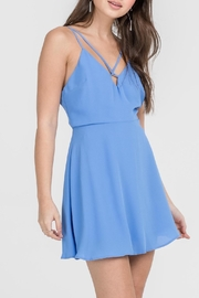 Apricot Lane Skater Girl Dress-Blue - Front cropped