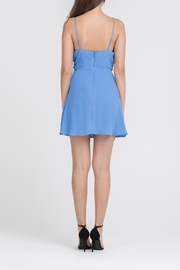 Apricot Lane Skater Girl Dress-Blue - Side cropped