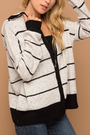 Apricot Lane Speckled Zip Up Swetaer - Product Mini Image