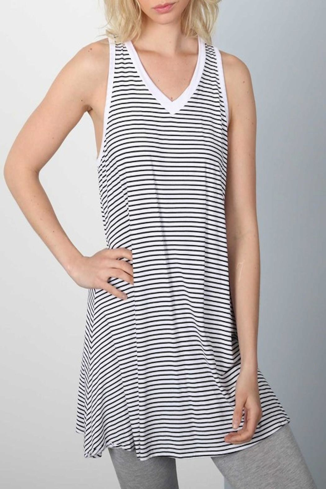 Apricot Lane Stripe Dress - Front Full Image