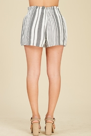 Apricot Lane Striped Bucket Shorts - Side cropped