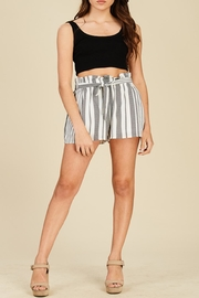 Apricot Lane Striped Bucket Shorts - Front cropped
