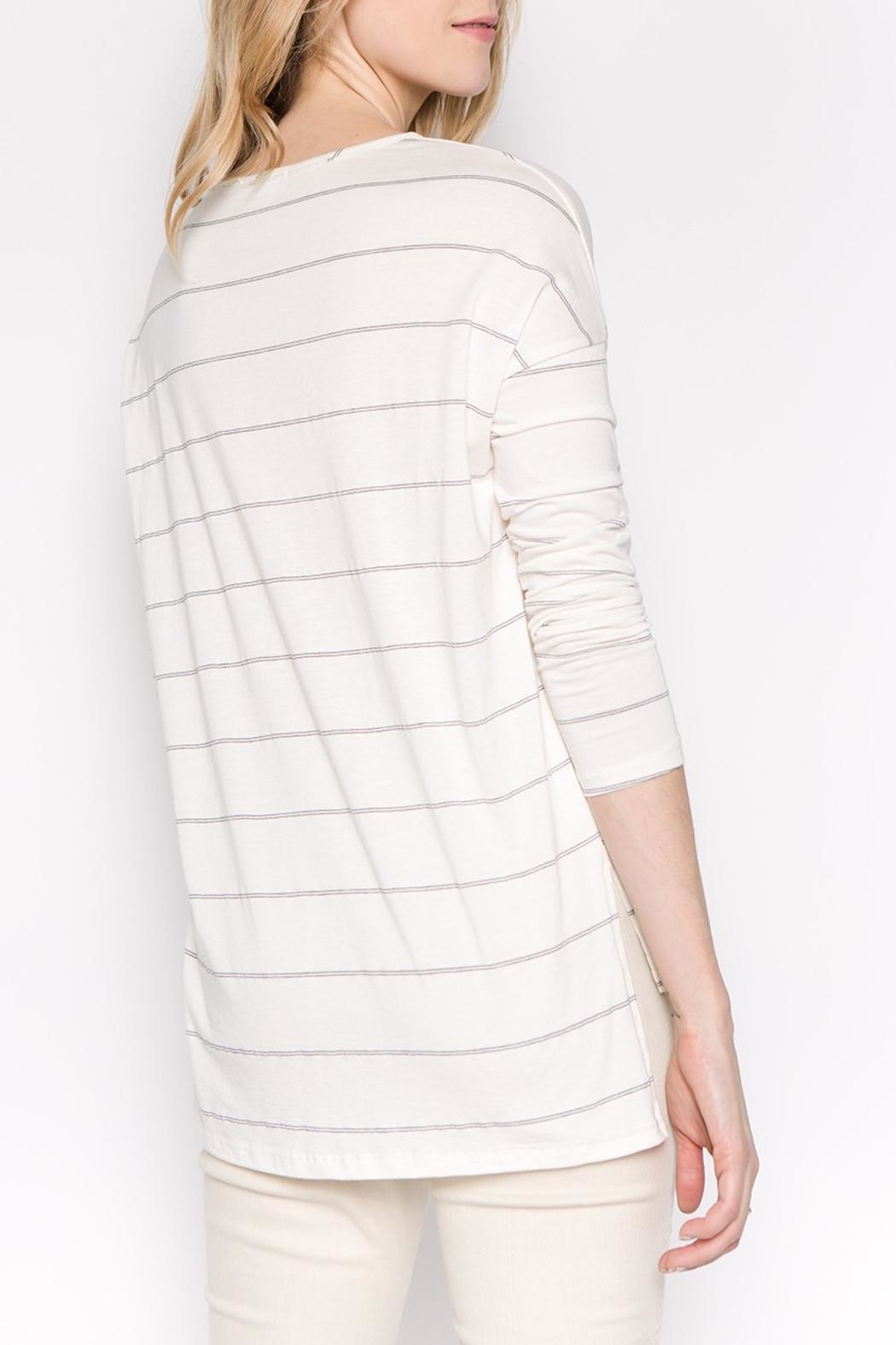 Apricot Lane Striped Casual Long-Sleeve - Side Cropped Image