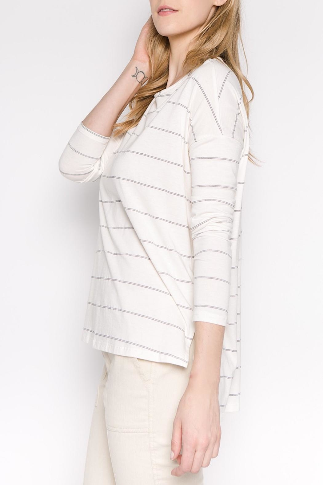 Apricot Lane Striped Casual Long-Sleeve - Front Full Image