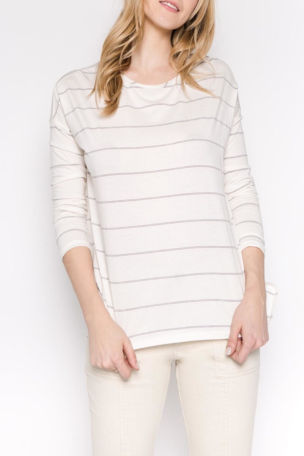 Apricot Lane Striped Casual Long-Sleeve - Main Image