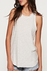Apricot Lane Striped Racer Tank-Grey - Product Mini Image