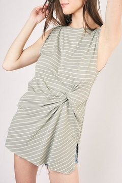 Apricot Lane Striped Twisted Top - Product List Image