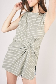 Apricot Lane Striped Twisted Top - Product Mini Image