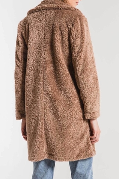 Apricot Lane The Cozy Sherpa Coat-Toffee - Alternate List Image