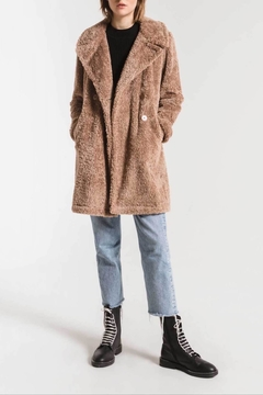 Apricot Lane The Cozy Sherpa Coat-Toffee - Product List Image