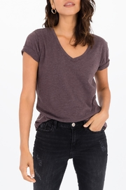 Apricot Lane The V-Neck Tee-Raisin - Front cropped