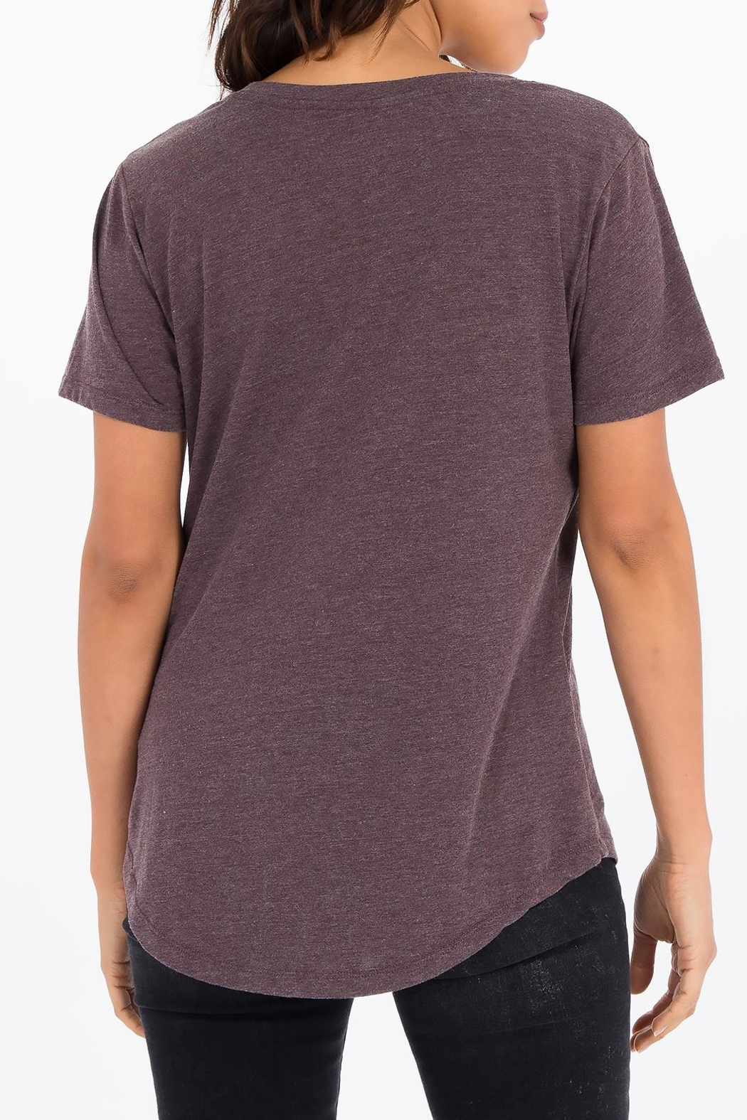 Apricot Lane The V-Neck Tee-Raisin - Side Cropped Image