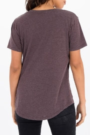 Apricot Lane The V-Neck Tee-Raisin - Side cropped