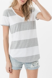 Apricot Lane The Venice Tee-Grey - Front cropped