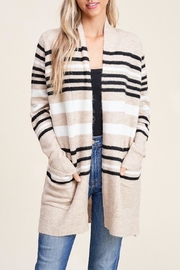 Apricot Lane Toasty Fireplace Cardi-Taupe - Front cropped