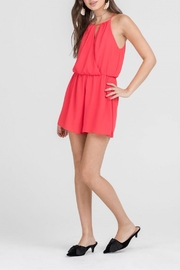 Apricot Lane Tomato Red Romper - Front full body