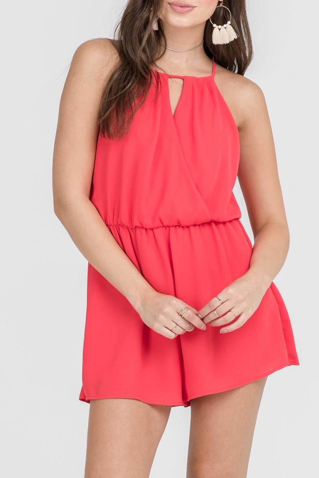 Apricot Lane Tomato Red Romper - Main Image
