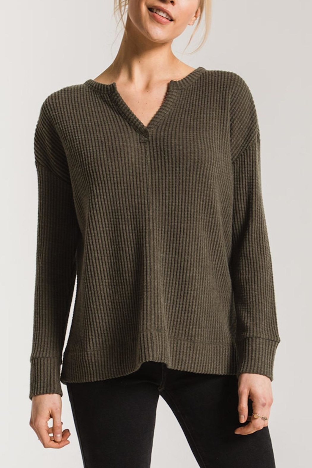 Apricot Lane Waffle Thermal-Forest Green - Main Image
