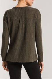Apricot Lane Waffle Thermal-Forest Green - Side cropped