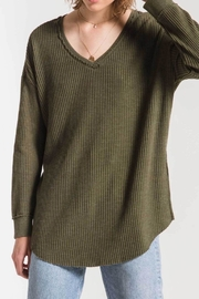 Apricot Lane Waffle Thermal Tunic-Rosin - Front cropped