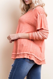 Apricot Lane Washed Layered Tee - Front full body