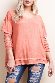 Apricot Lane Washed Layered Tee - Product Mini Image