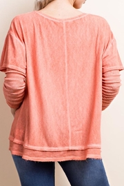 Apricot Lane Washed Layered Tee - Side cropped