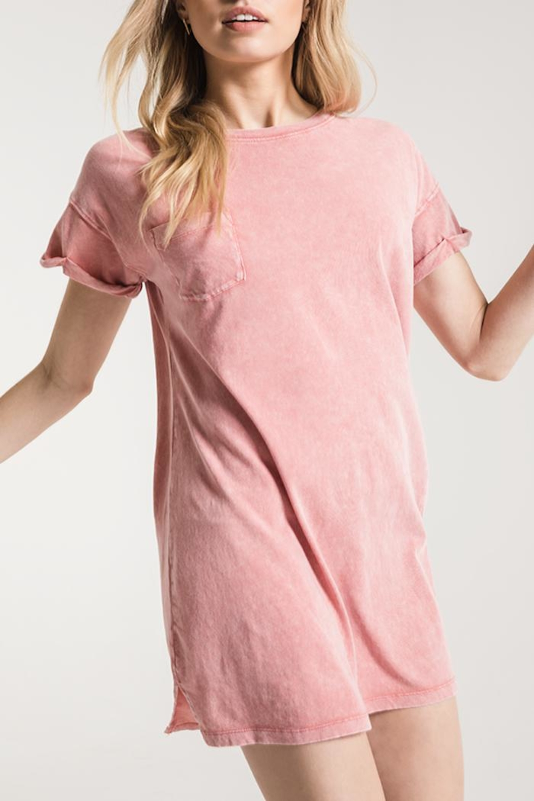 Apricot Lane Washed T-Shirt Dress - Front Cropped Image