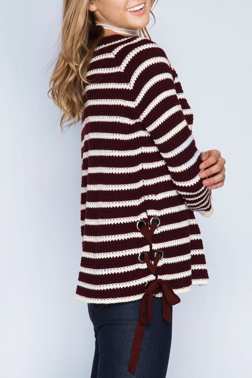 Apricot Lane Wine Not Sweater - Front Full Image