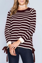 Apricot Lane Wine Not Sweater - Front cropped