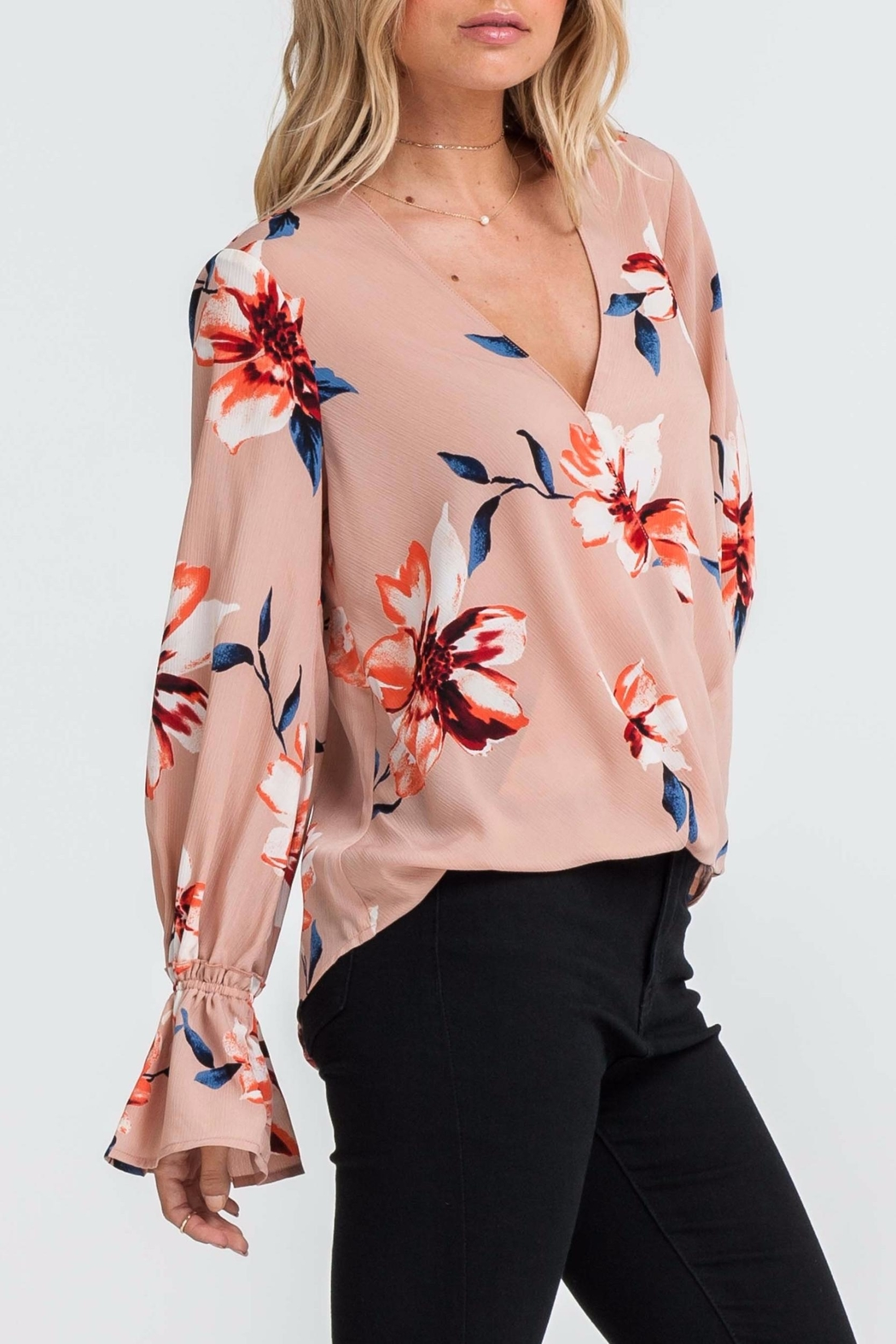 Apricot Lane St. Cloud Blushing Beauty Top - Front Full Image